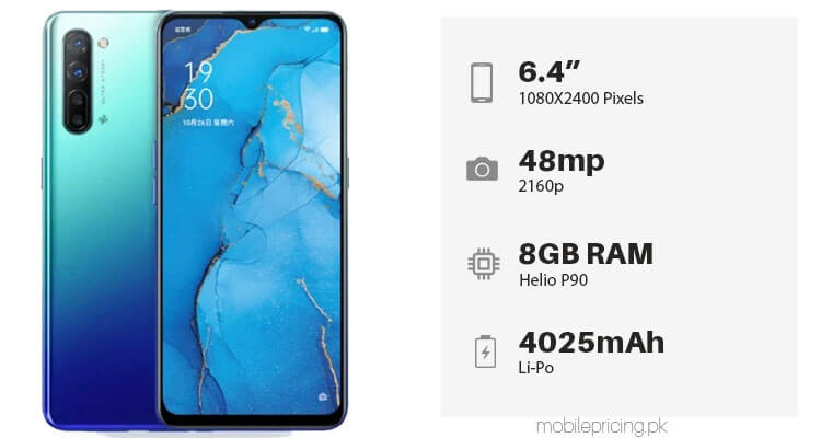 Oppo Reno 3 Price & Specifications in Pakistan